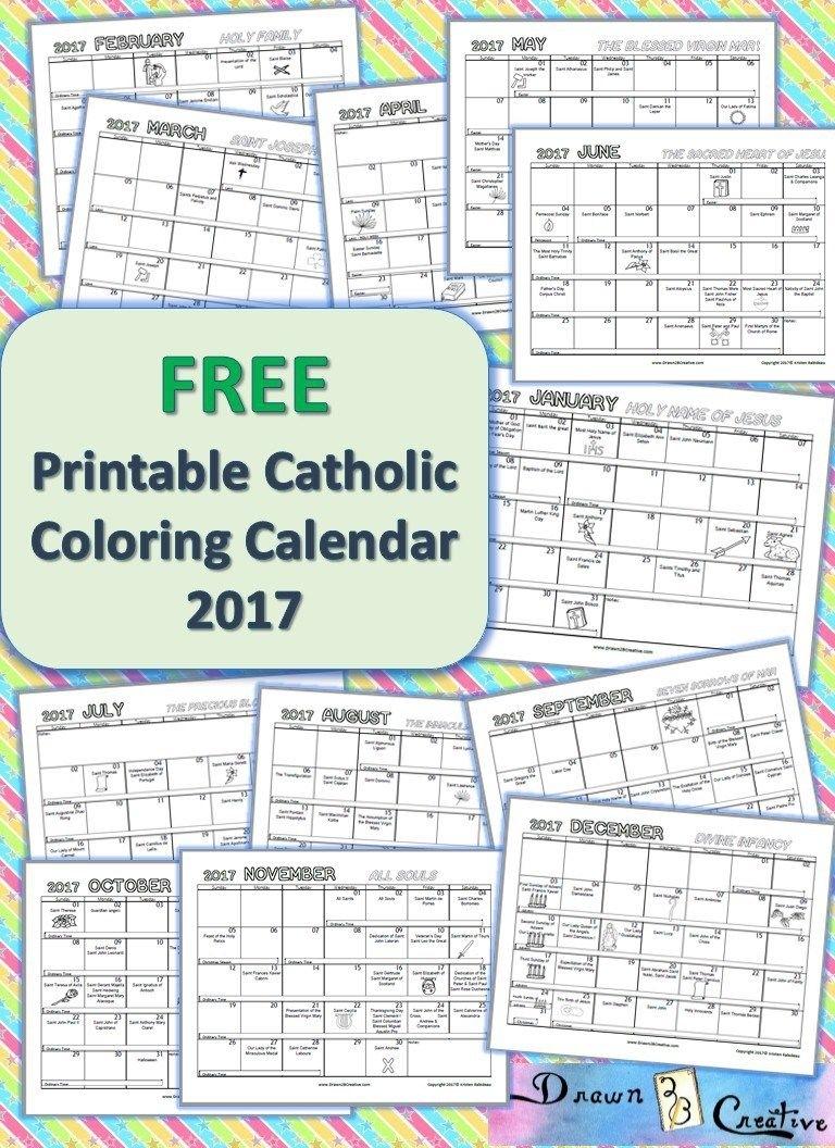 Free Printable Catholic Coloring Calendar 2017   Catholic with regard to Liturgical Calender Printable Version Catholic