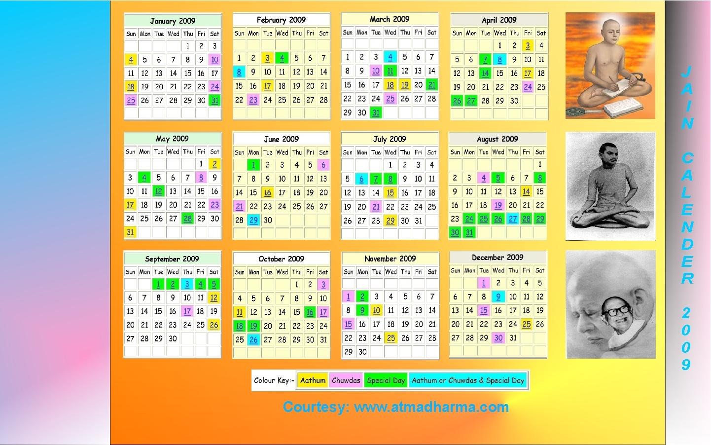 Jain Calendar with 30 October 2002 Hindi Tithi