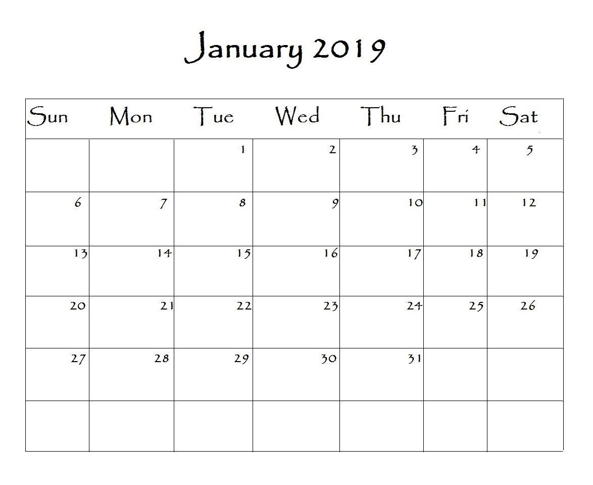 January 2019 Calendar Word | Calendar Word, Monthly Calendar throughout 2019 Calendar Downloadable Free Word