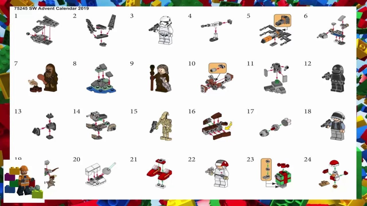 Lego Instructions - Seasonal - 75245 - Star Wars Advent Calendar with regard to Lego Advent Calendar Star Wars Directions