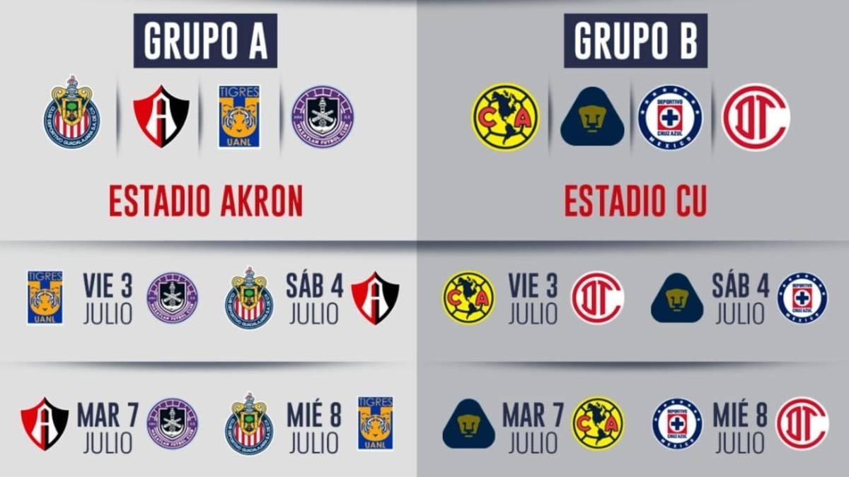 Liga Mx: Calendario, Fechas Y Horarios Del Torneo De regarding Liga Mx Clausura 2020 Fechas