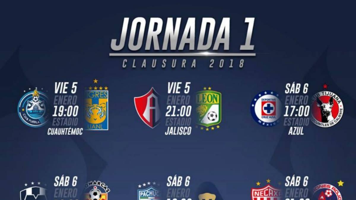 Liga Mx Inicia El Viernes, Con Dos Partidos Del Clausura 2020 with regard to Liga Mx Clausura 2020 Fechas
