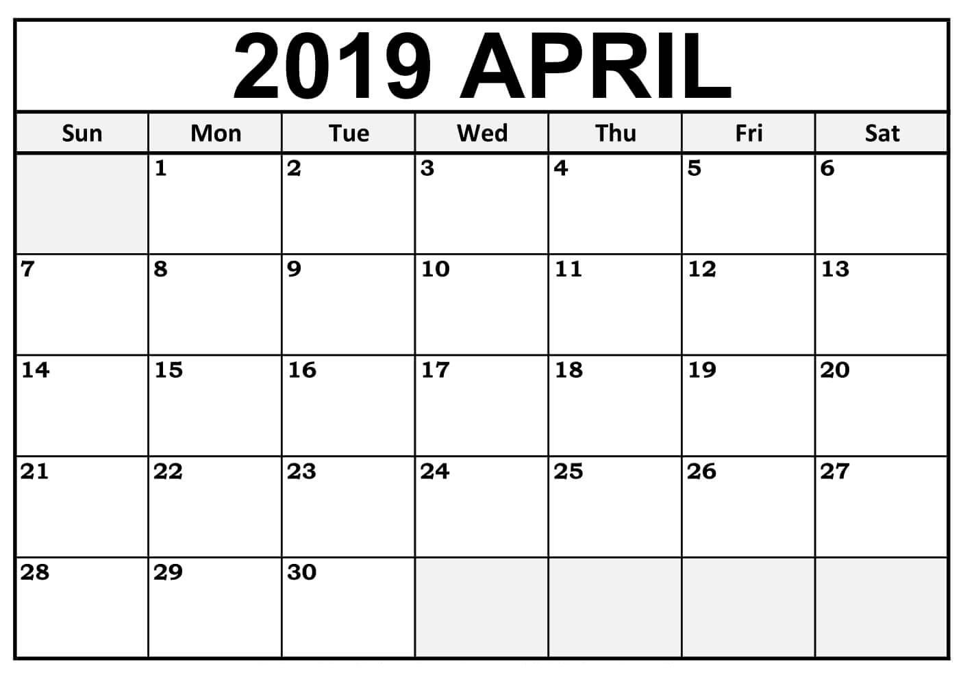Lunar Calendar For April 2019 Printable Pdf Blank Download in 2019 Free Printable Calendars Without Downloading