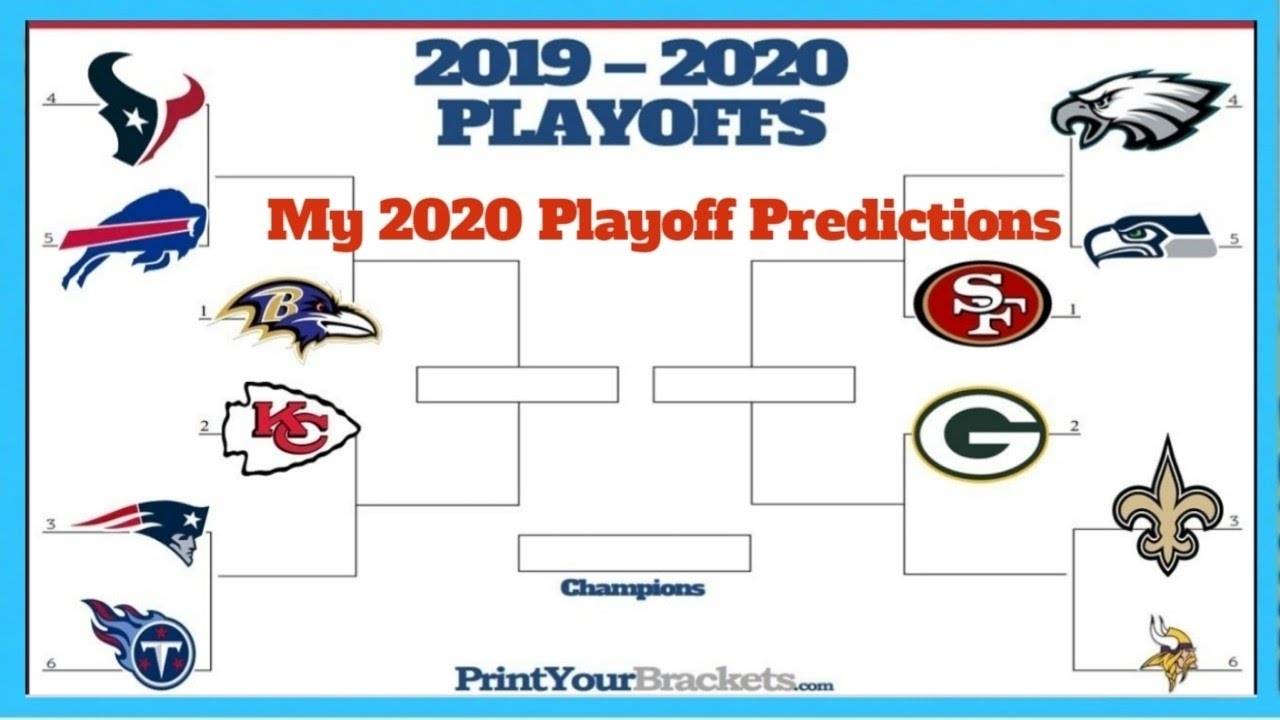 My 2020 Nfl Playoff Predictions! inside Printable Nfl Payoff Schedule 2019-2020