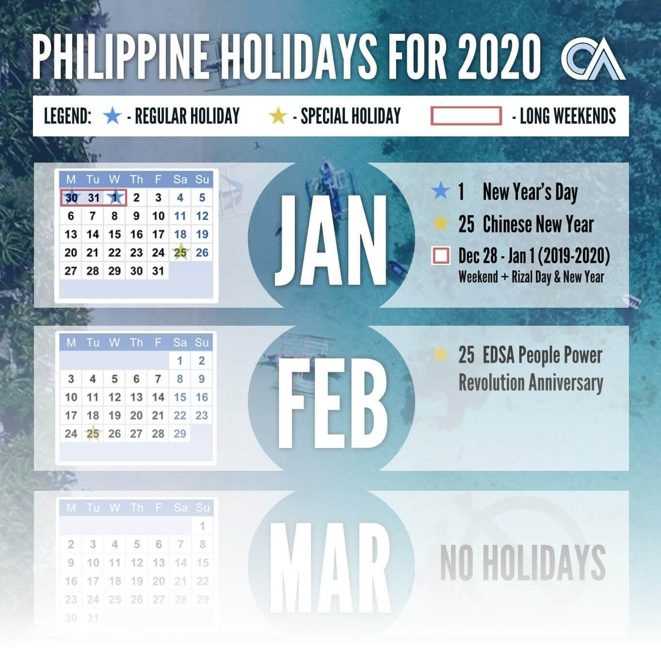 Philippine Holidays 2020 | Outsource Accelerator with regard to Special Dates Of The Year 2020