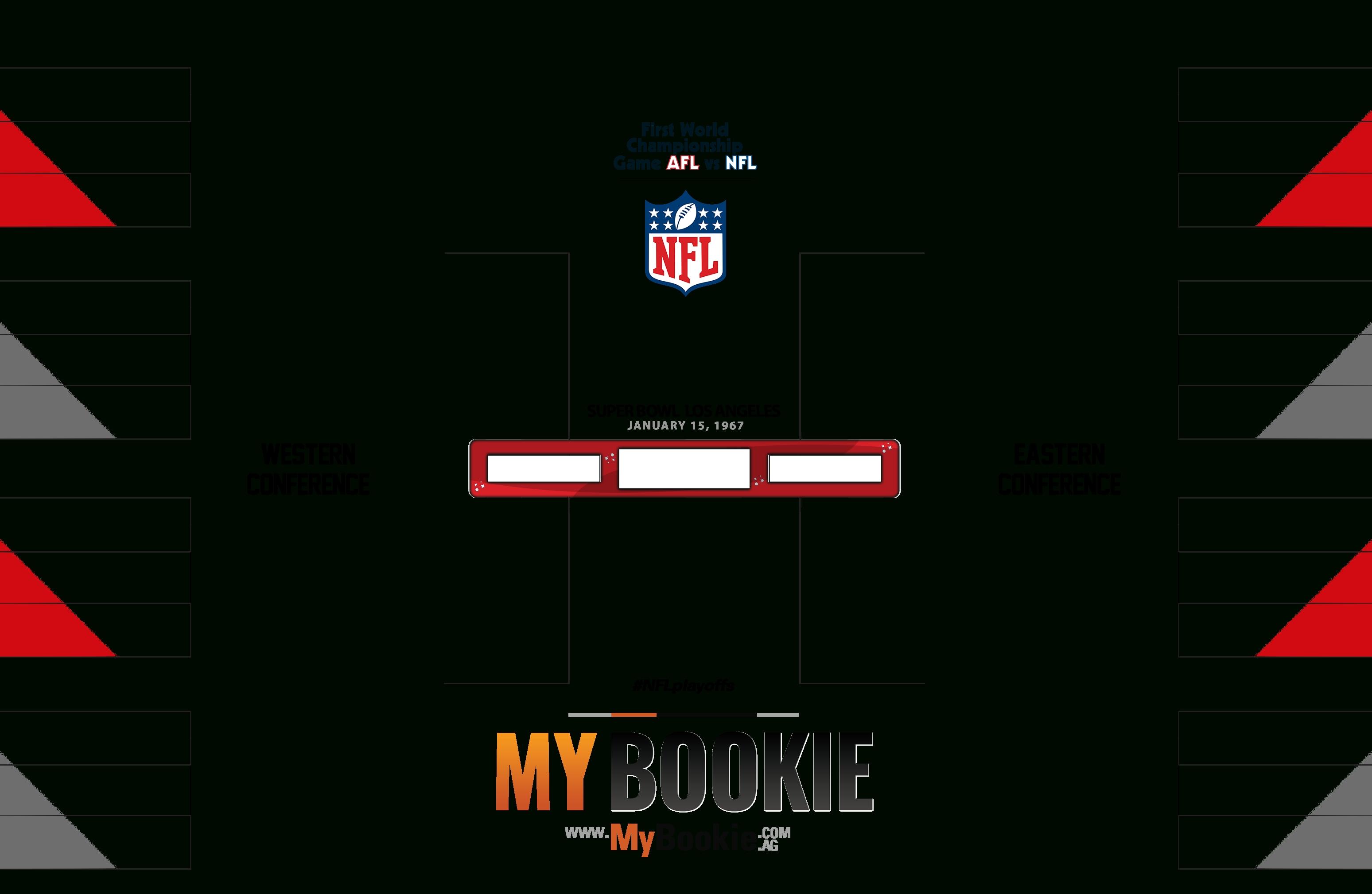 Printable Nfl 1967 Playoffs / Super Bowl 1 Bracket within Free Printable Nfl Schedule 2019 2020