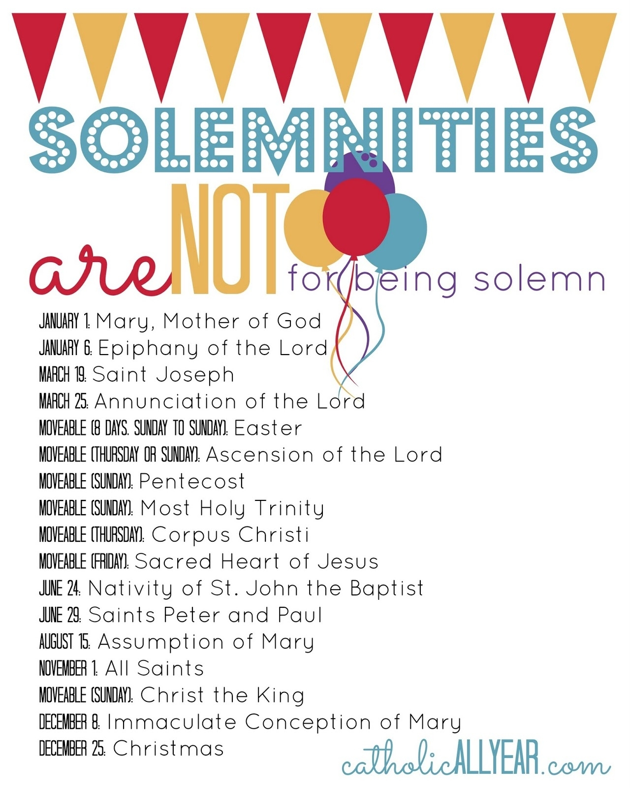 Solemnities Are Not For Being Solemn: What They Are, Why regarding Catholic Liturgical Calendar 2019 2020 Free Print