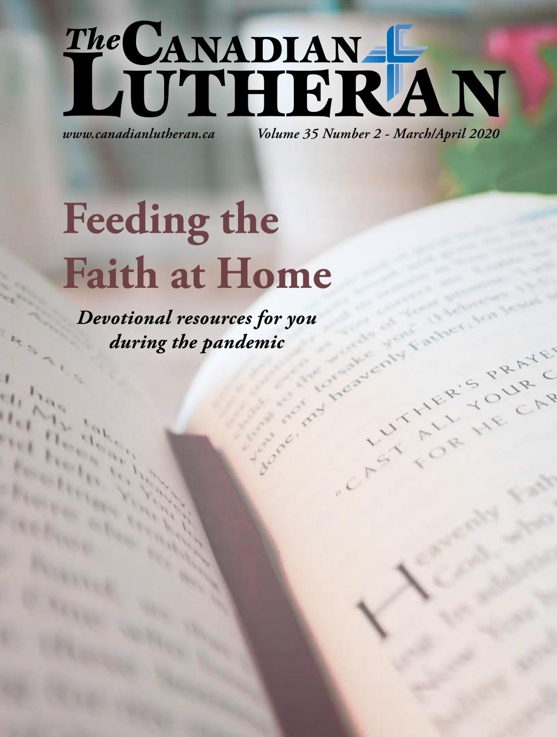 The Canadian Lutheran March/april 2020The Canadian with regard to Liturgical Calendar 2020 Pdf Lutheran