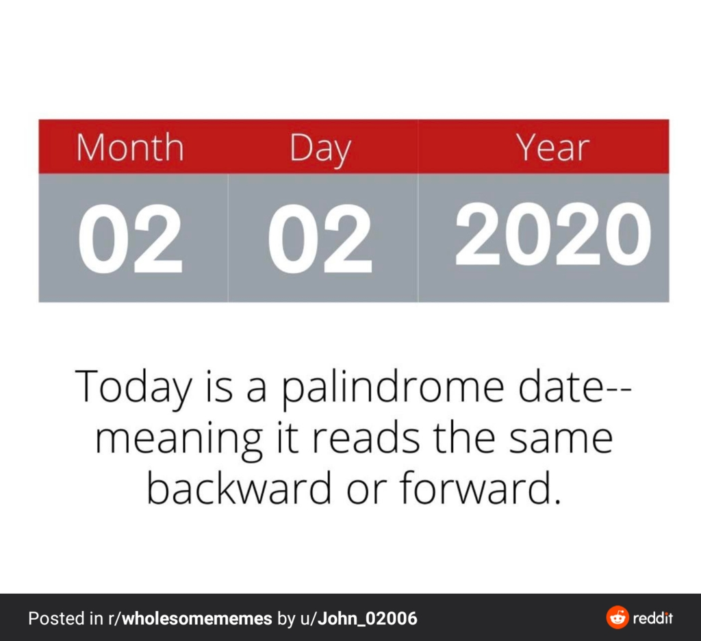 Today Is A Special Day In History Which Will Not Occur For intended for Special Dates Of The Year 2020