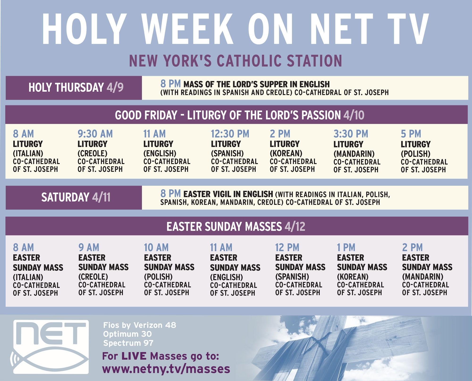 Tune In To The Holy Week Services (Psa For Catholics) - Bklyner with regard to 2020 Liturgical Calendar Holy Week