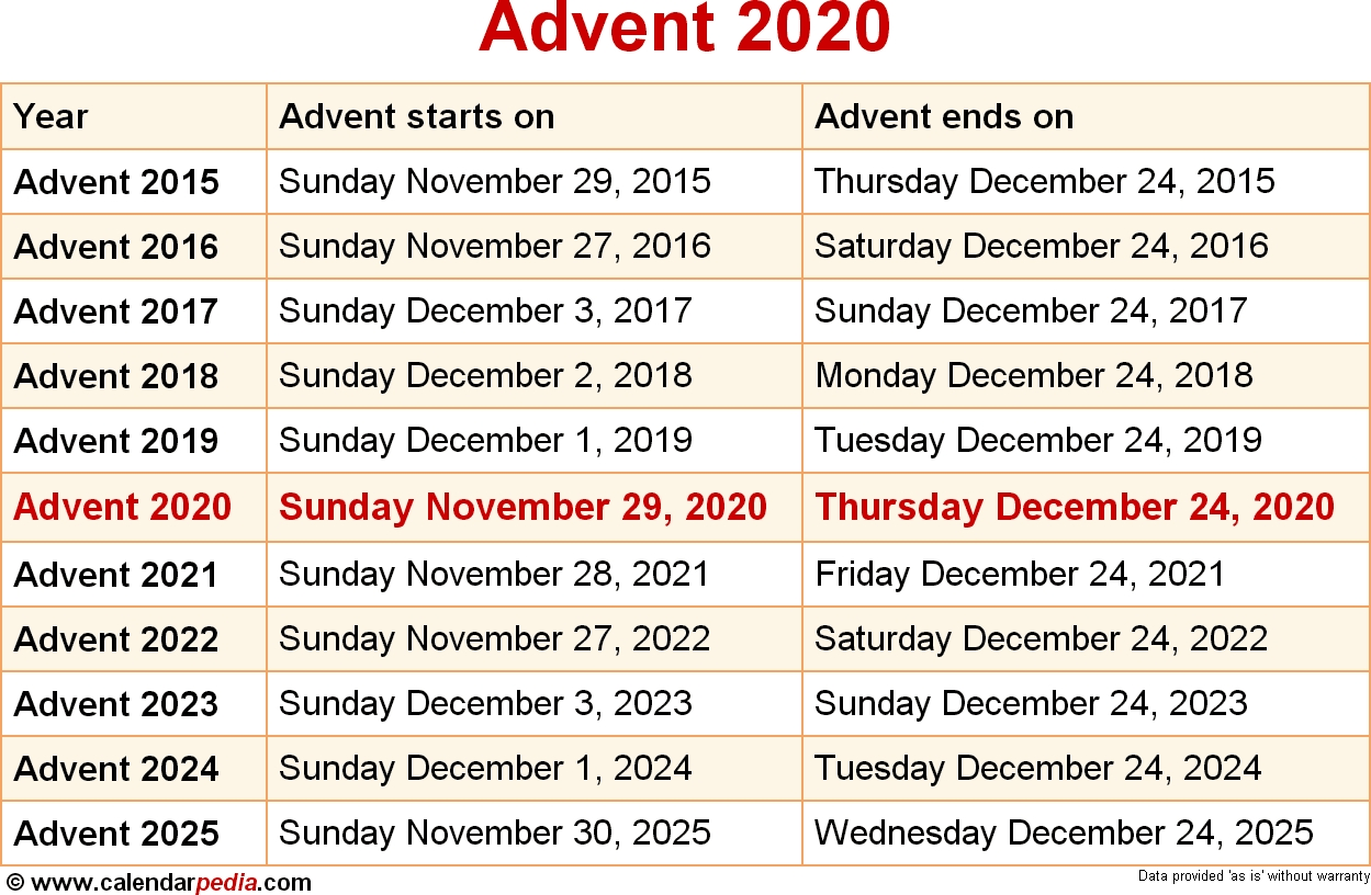 When Is Advent 2020? regarding 2021 Catholic Liturgical Calendar Pdf