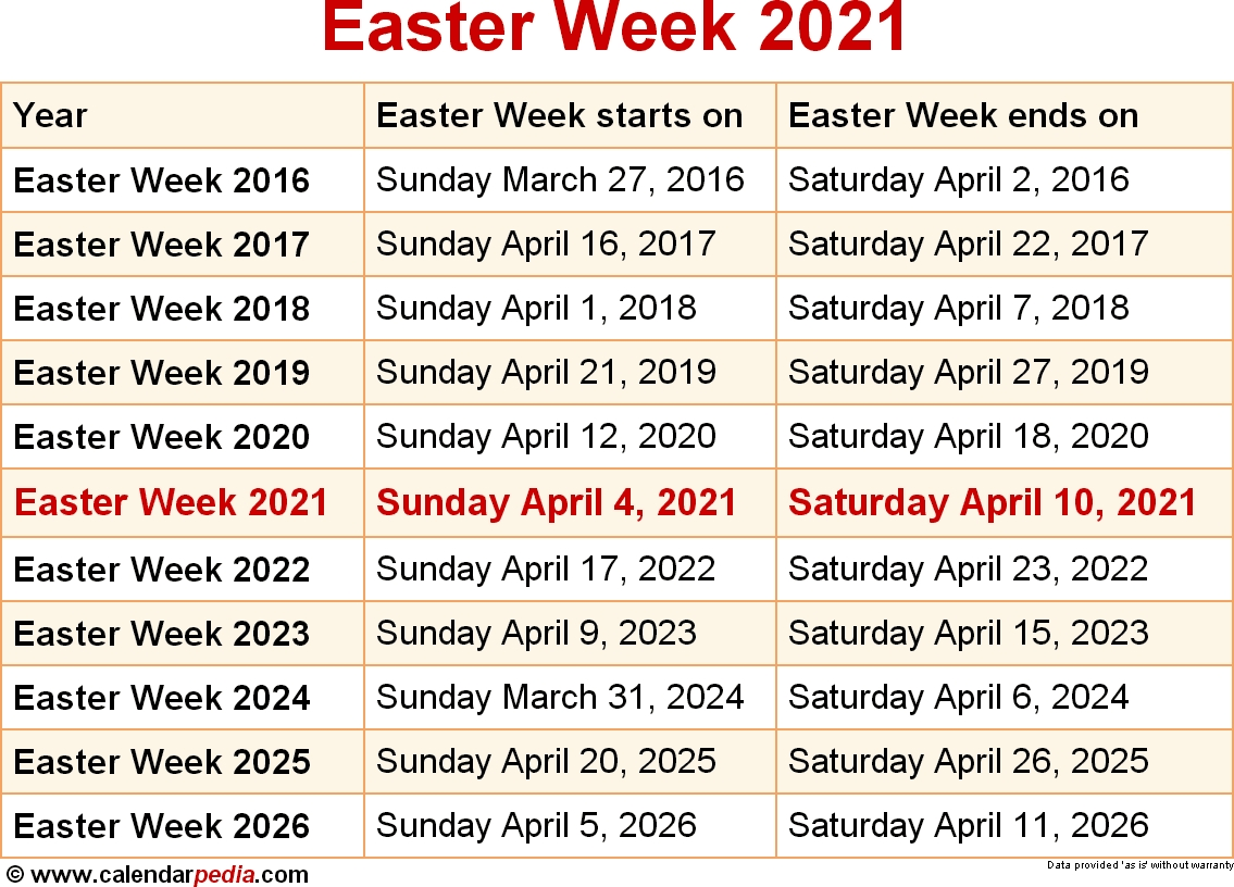 When Is Easter Week 2021? within Liturgical Calendar Lent And Holy Week 2020