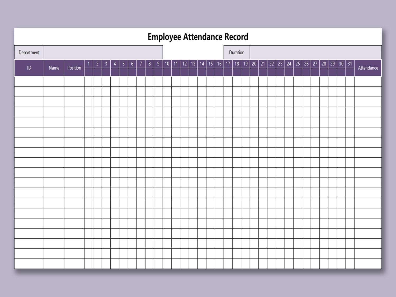 Wps Template Free Download Writer Presentation Spreadsheet throughout Free Employee Attendance Calendar 2020