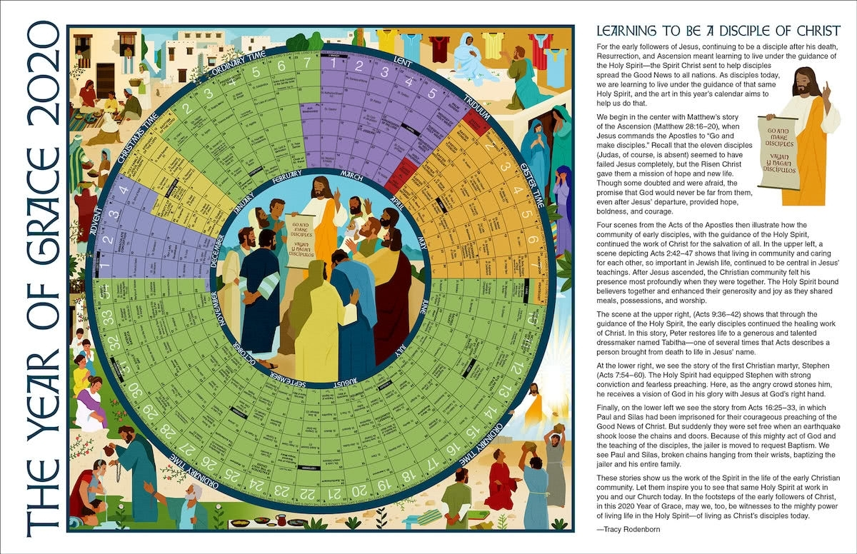 Year Of Grace: The Year Of Grace 2020, Small Paper 17 X 11 for Catholic Liturgical Calendar 2019 2020 Free Print