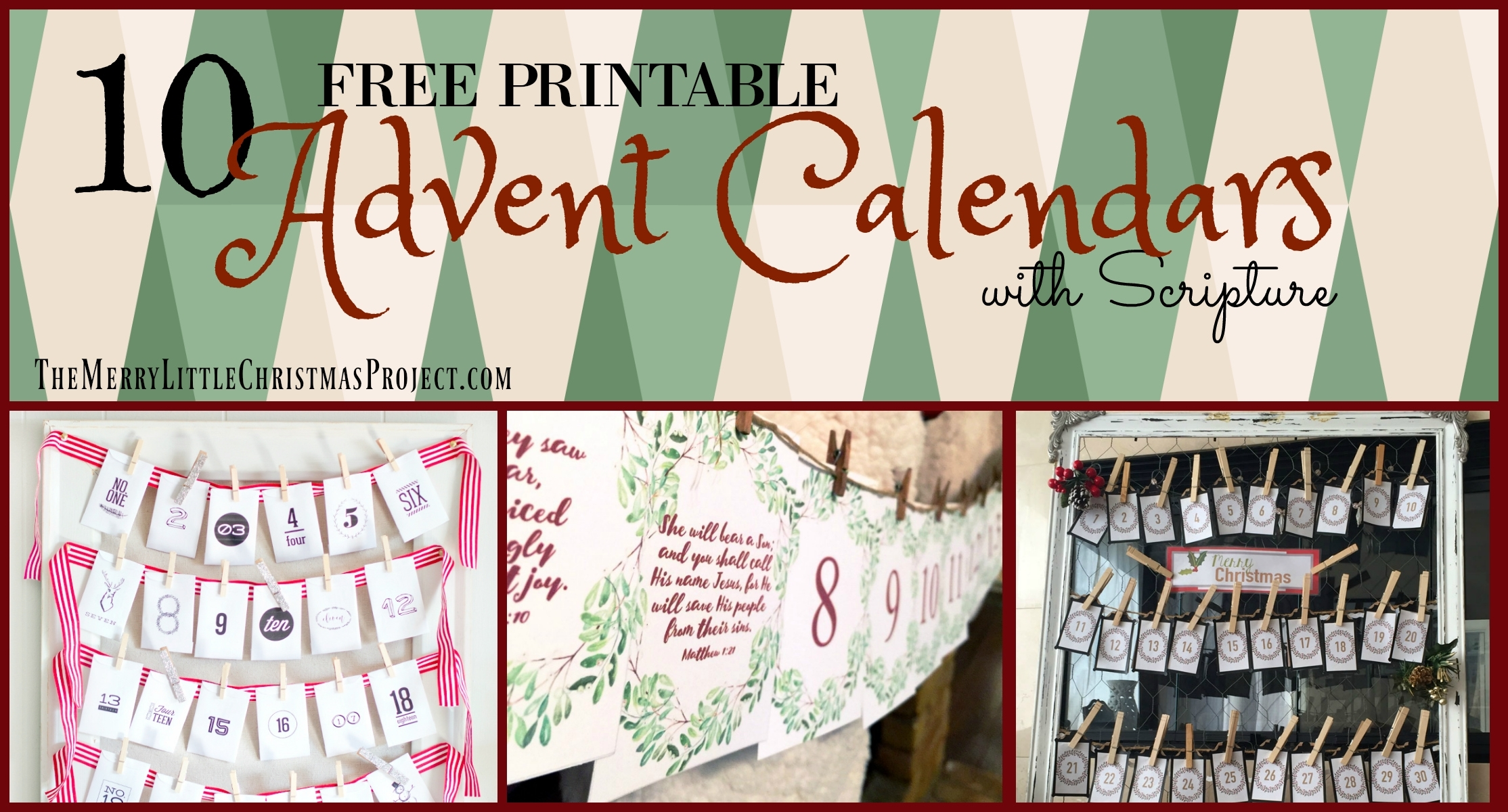 10 Free Advent Printables With Scripture - The Merry Little throughout Bible Verse Advent Calendar With Gift Ideas