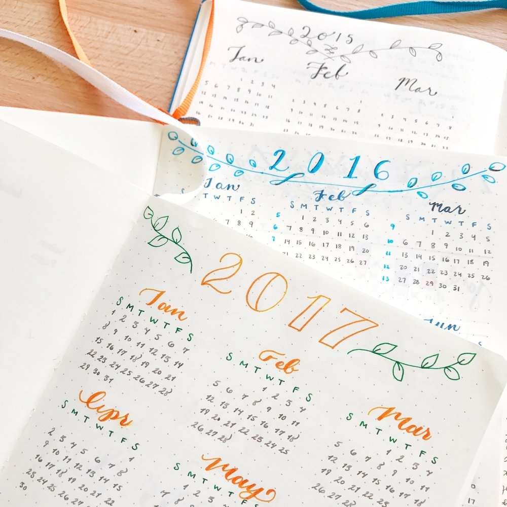 100Daysofbulletjournalideas: 15 - The Year Overview: View