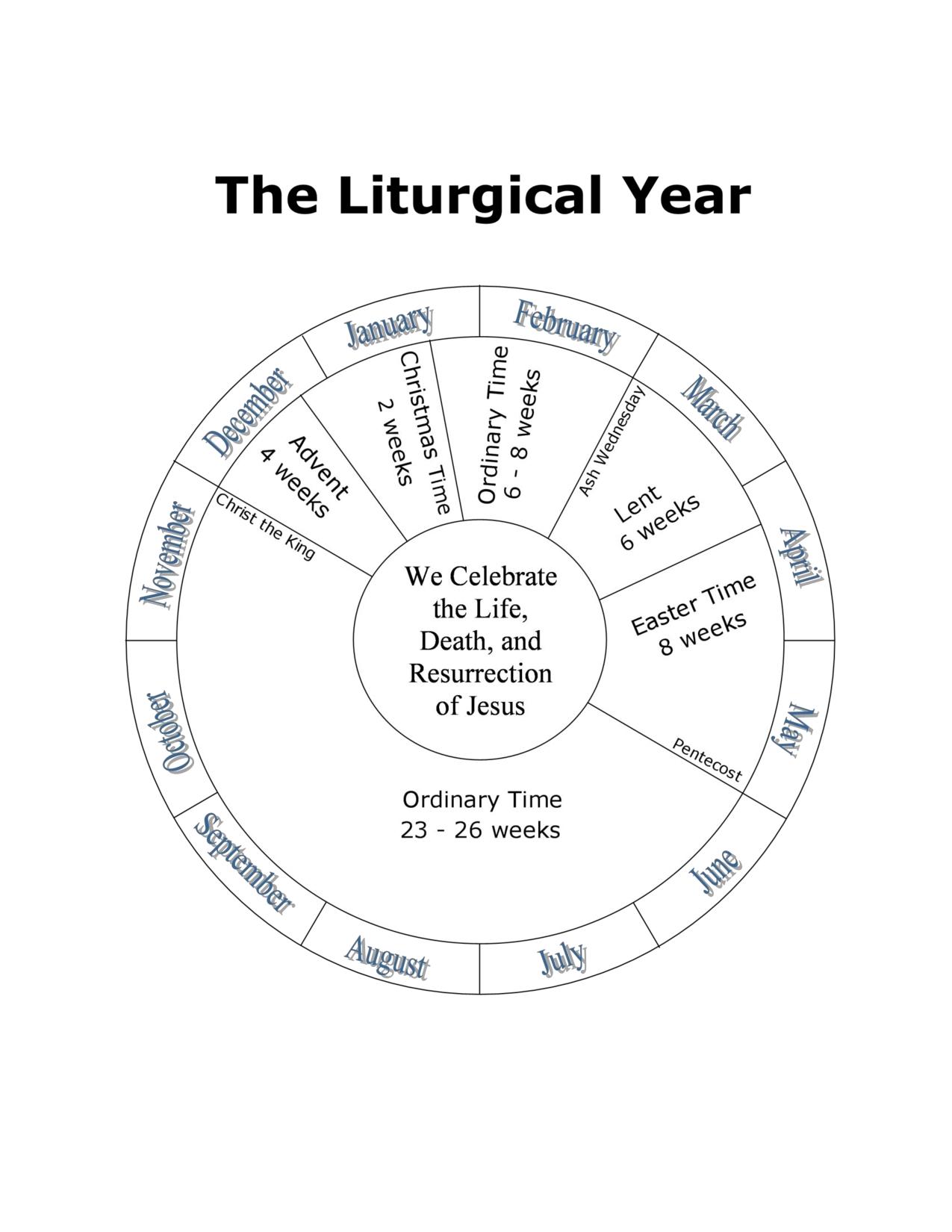 114897692 (1275×1650) | Catholic Liturgical Calendar