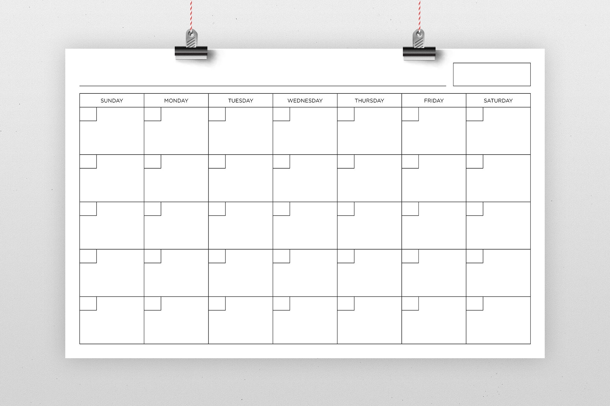 11X17 Inch Blank Calendar Page Templaterunning With