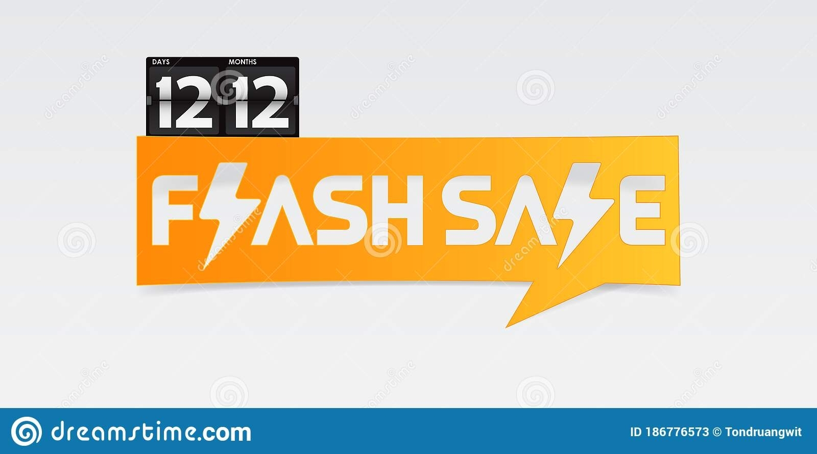 12.12 Shopping Day Flash Sale Banner, Discount Labels With