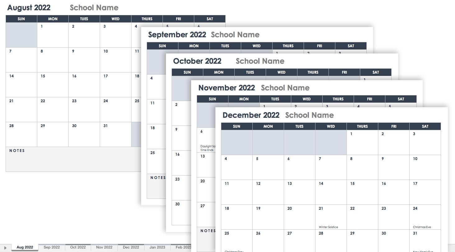 15 Free Monthly Calendar Templates | Smartsheet in Google Free Printable Calendars 2020