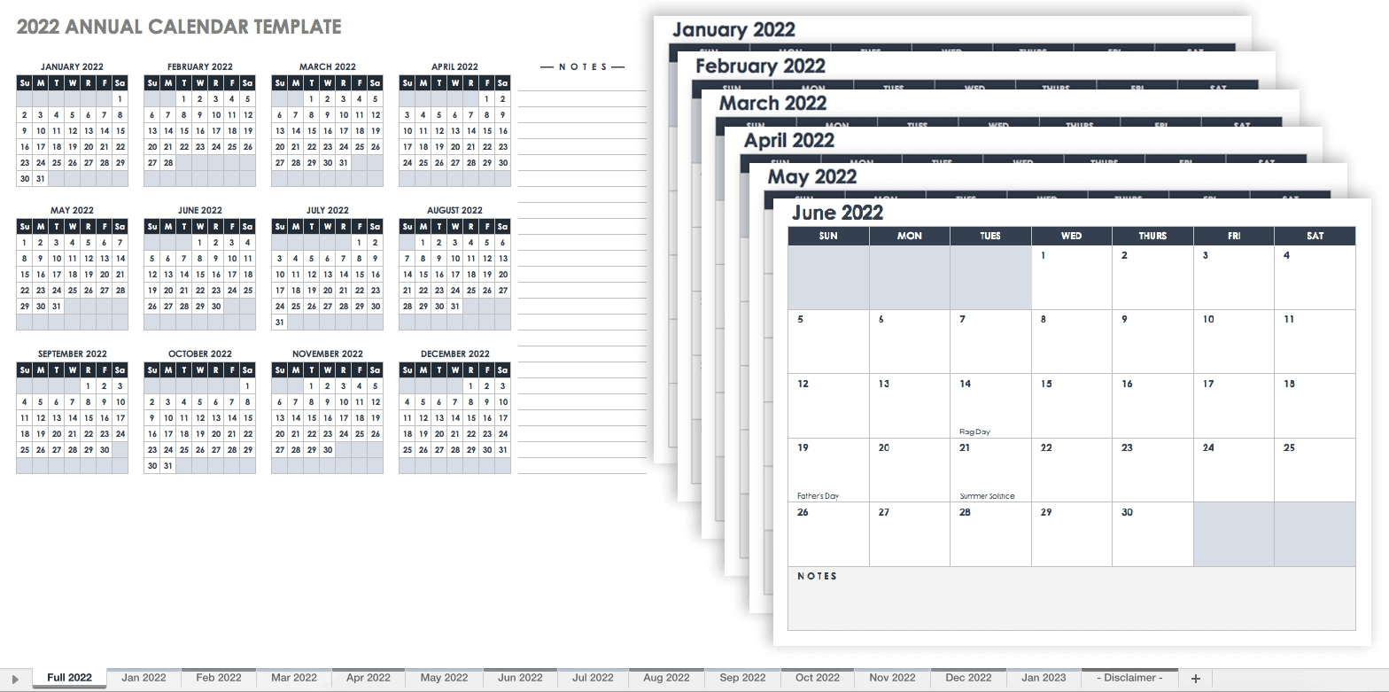 15 Free Monthly Calendar Templates | Smartsheet inside 2020 12 Month Calendar Printable