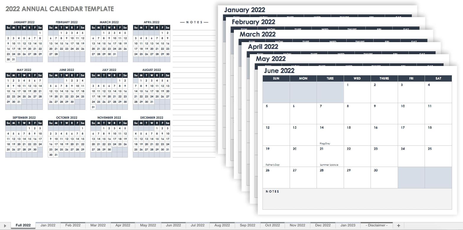 15 Free Monthly Calendar Templates | Smartsheet regarding 2020 Free 12 Month Printable Monthly Calendar