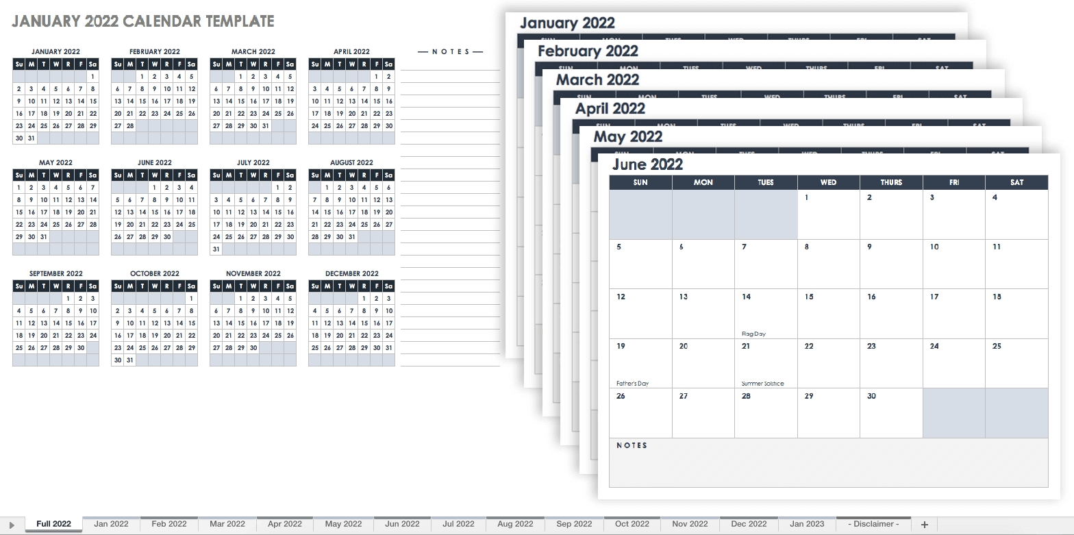 15 Free Monthly Calendar Templates | Smartsheet within Year Calendar 2020 With Space To Write Int