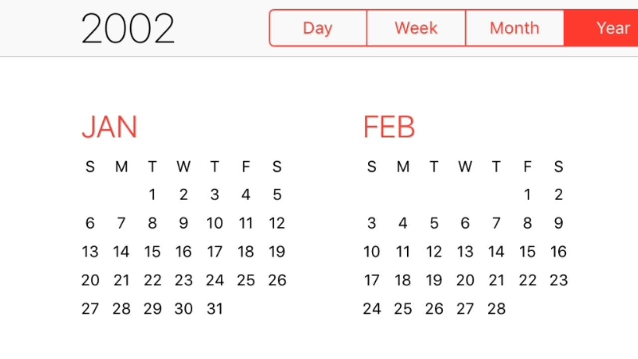 2002 Calendar - Youtube