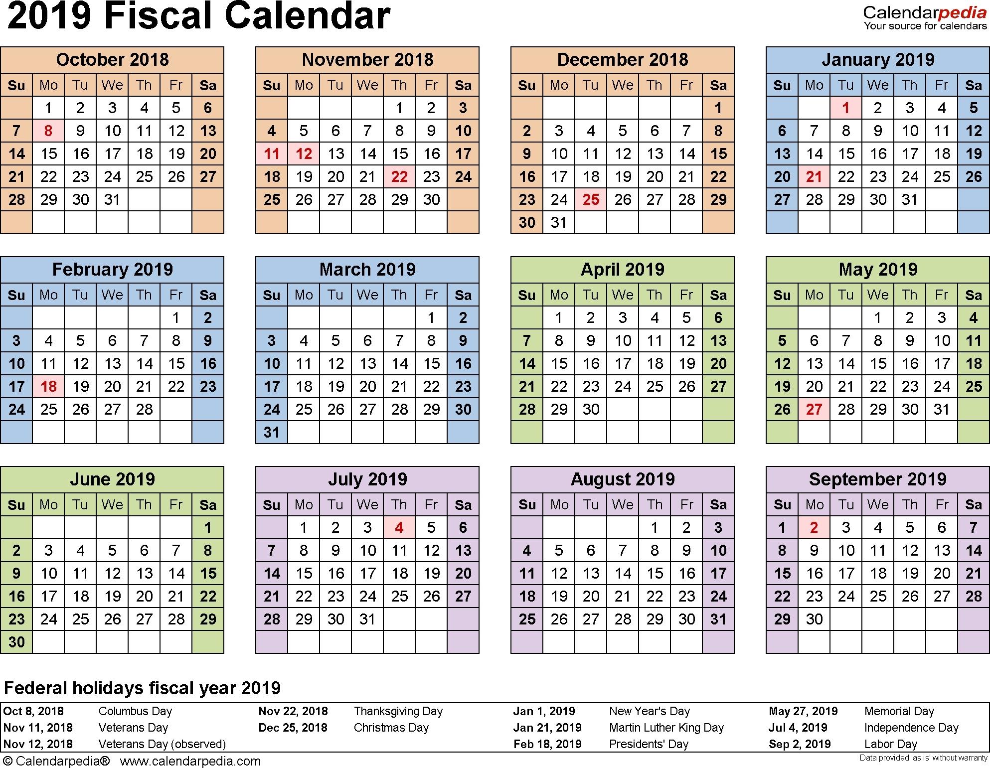 2019-2020 Calendar Financial Week Numbers - Calendar inside What Financial Week Is It