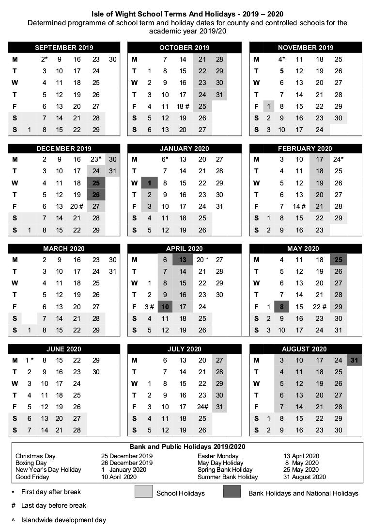 2019-2020-Term-Dates_P1 - St Helens Primary School, Isle Of regarding School Calendar For Pshe Events 2019-2020