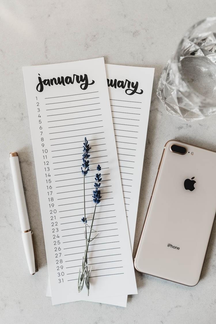 2019 Calendars - Free Printable 4 Styles - Lemon Thistle