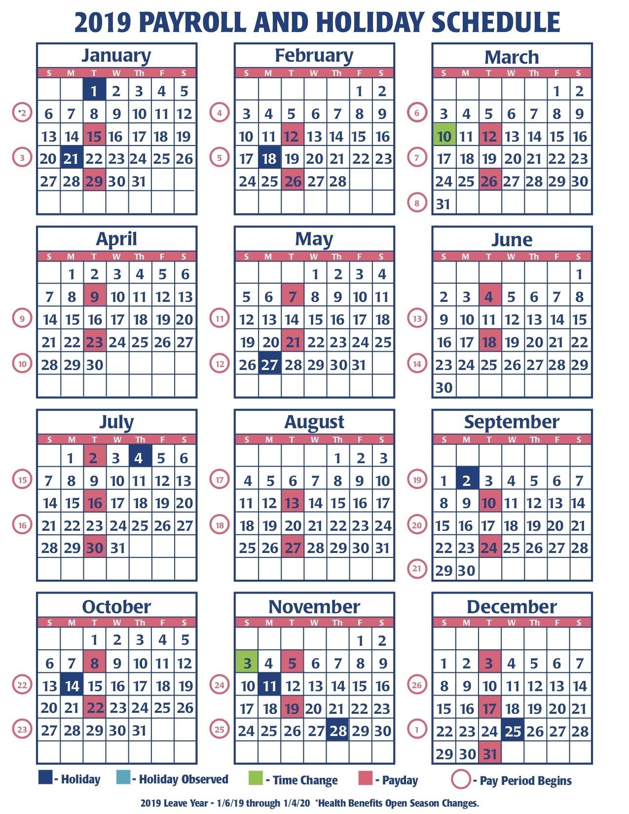 2019 Faa Payroll Calendar | Faa Managers Association