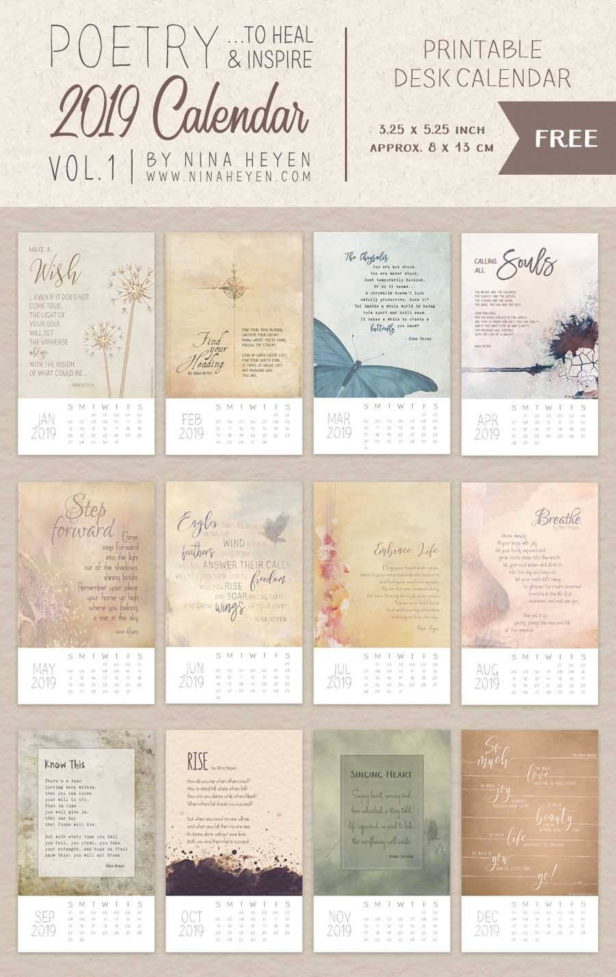 2019 Free Printable Calendars - Lolly Jane within December 2019 Printables And Inspirations