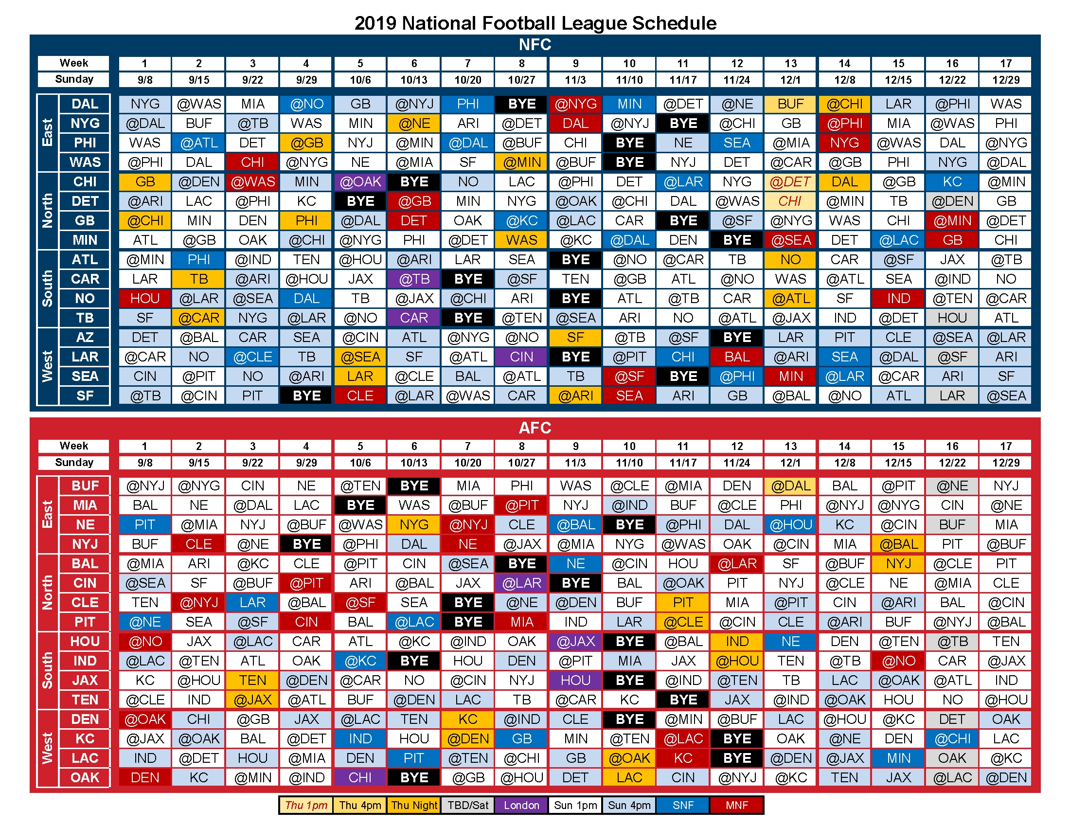 2019 Nfl Schedule - Album On Imgur with Nfl Schedule 2019 2020 Excel