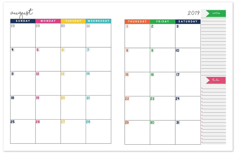 2020-2021 Monthly Calendar Planner | Free Printable Calendar inside Free Half Page 2020 Monthly Calanders