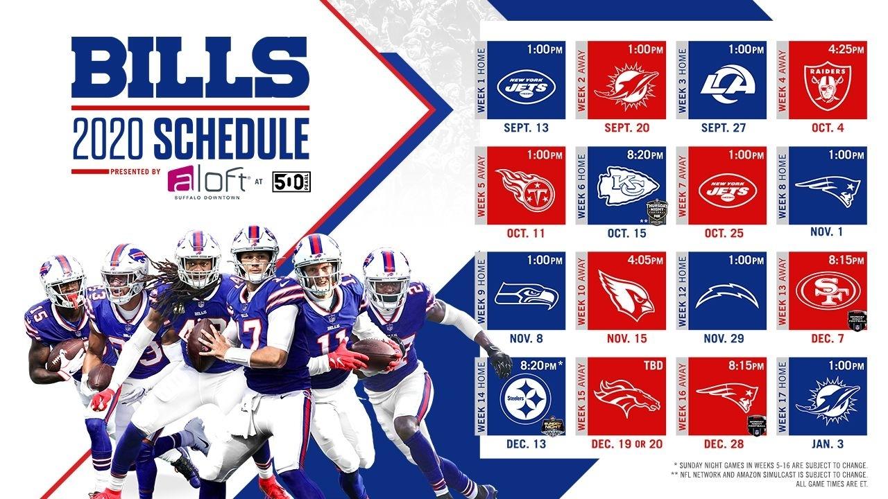 2020 Buffalo Bills Schedule: Complete Schedule, Tickets And intended for Nfl Schedule 2019 2020 Season Calendar