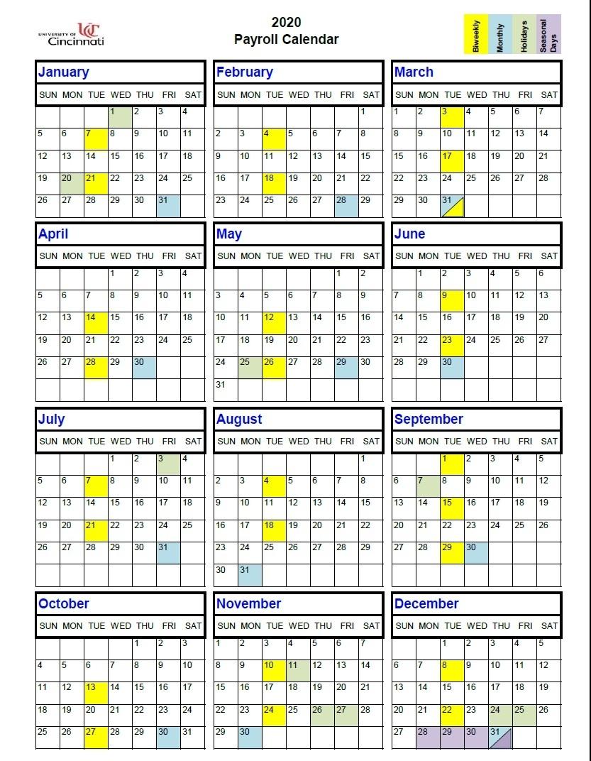 2020 Calendar | 2021 Pay Periods Calendar - Part 2