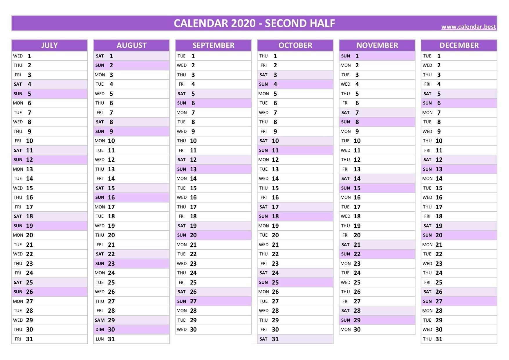 2020 Calendar - Calendar.best