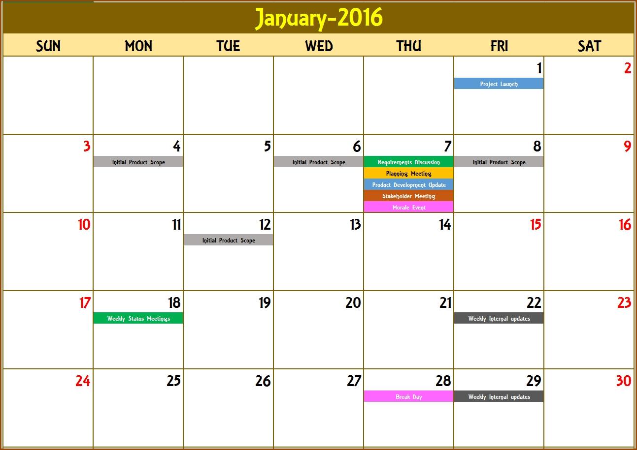2020 Excel Calendar Template - Excel Calendar 2020 Or Any with regard to 5 Days Event Calendar Template