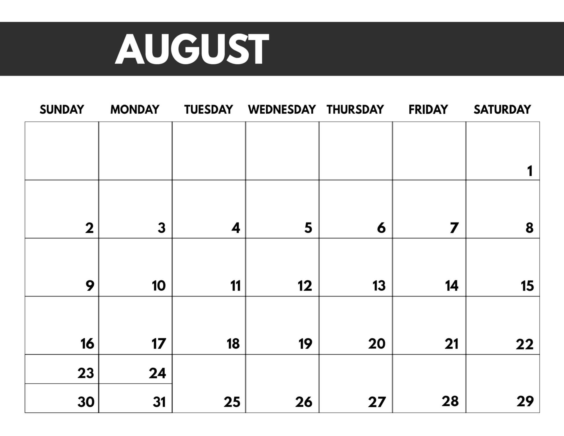 2020 Free Monthly Calendar Template | Paper Trail Design pertaining to Printable Monthly Calendar 2020 Free
