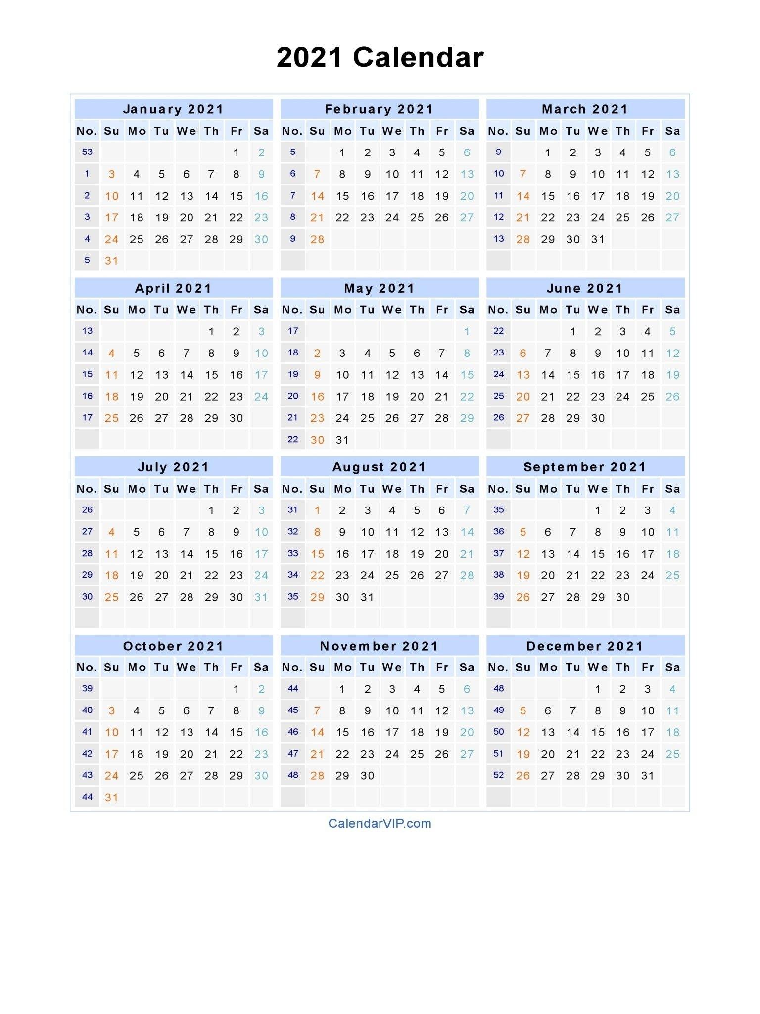 2021 Calendar With Week Numbers Excel Full – Encouraged In