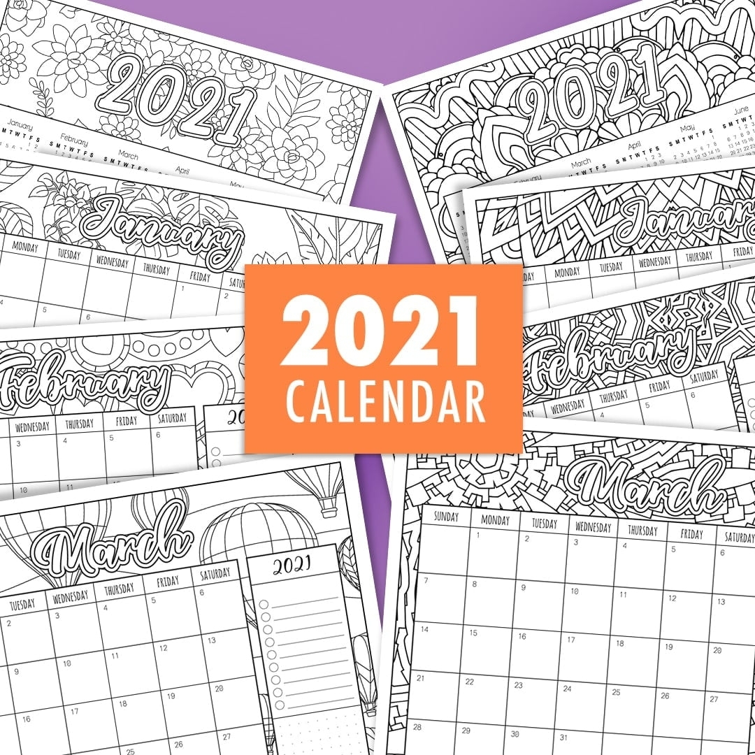 2021 Coloring Calendar