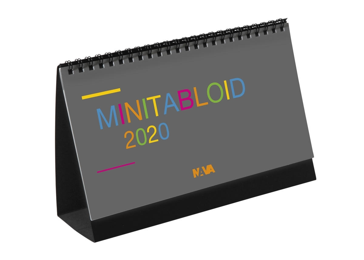 "2021 ""Minitabloid"" Monthly Desk Calendar, 21×13.5 Cm"