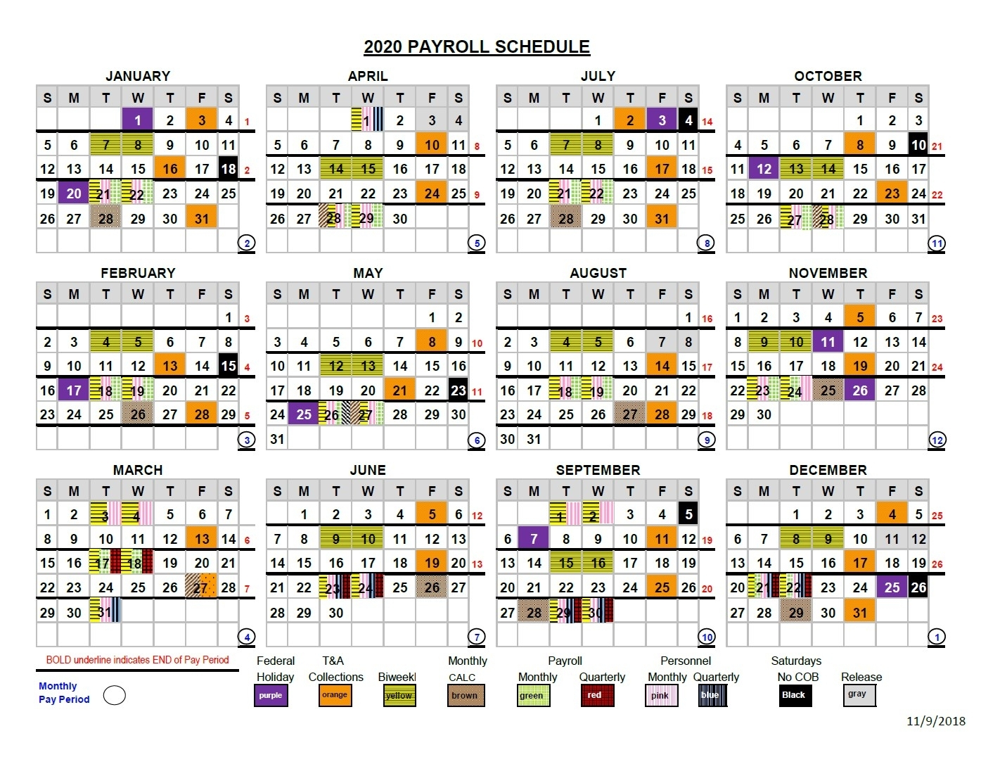 2021 Pay Periods Calendar regarding Federal Pay Periods 2020 Schedule