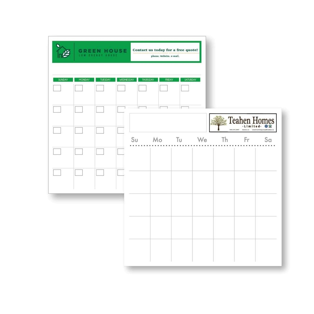 """22"""" X 22"""" Styrene Perpetual Dry Erase Calendar - Month At A Glance"""