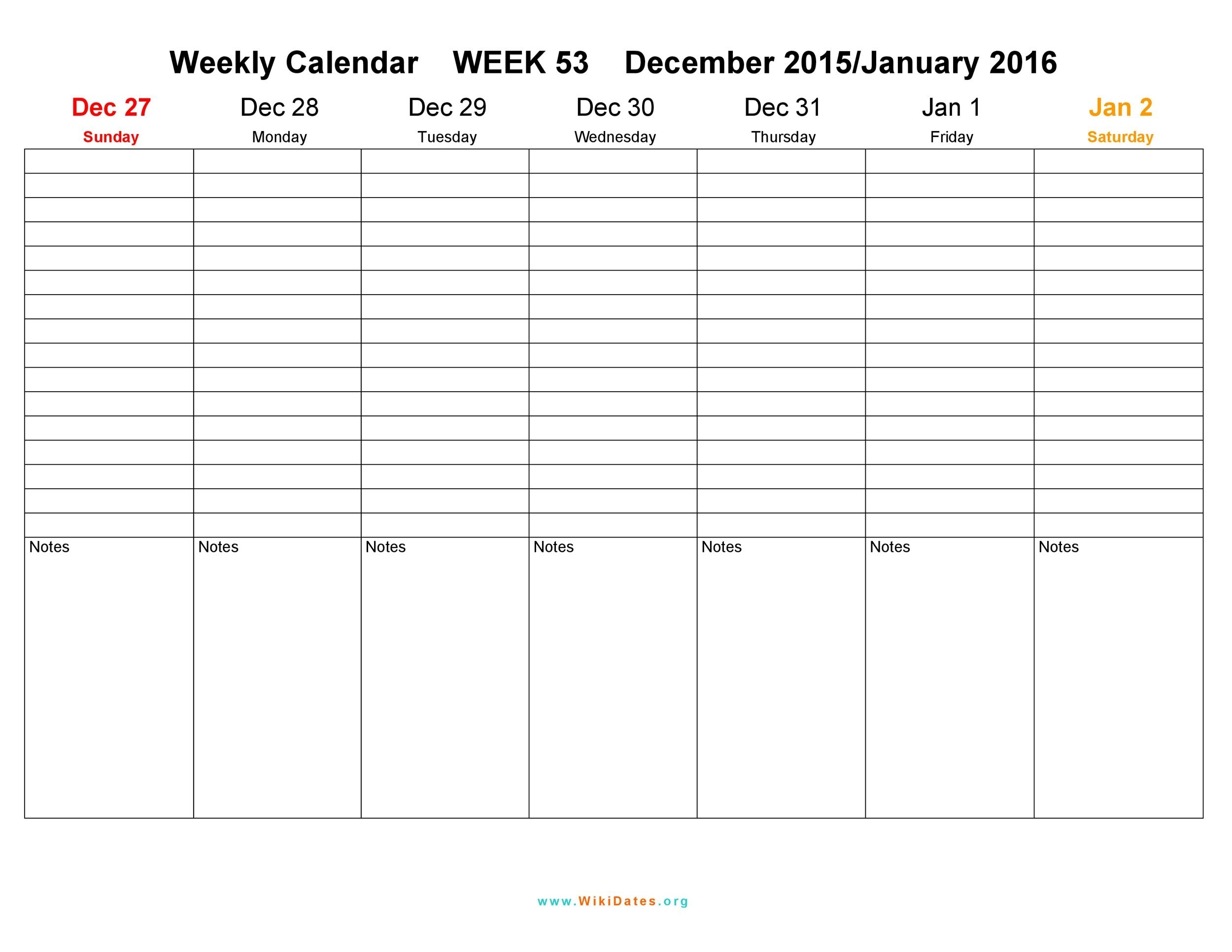 26 Blank Weekly Calendar Templates [Pdf, Excel, Word] ᐅ within Monsay Through Friday Calneder With Times