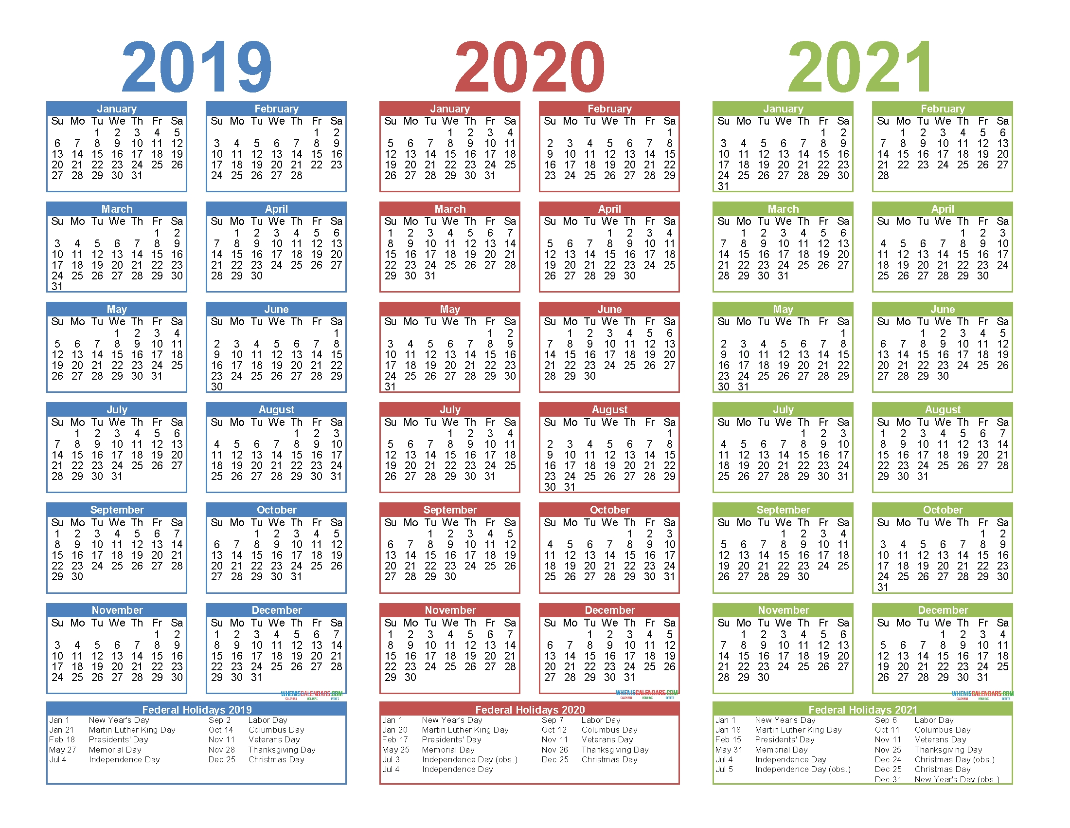 3 Year Calendar Printable 2019 2020 2021 Free Calendar with regard to 3 Year Calendar 2019 2020 2021 Printable