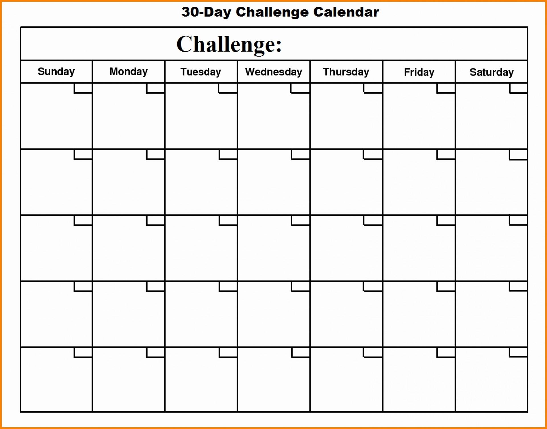 30 Day Calander | Calendar For Planning