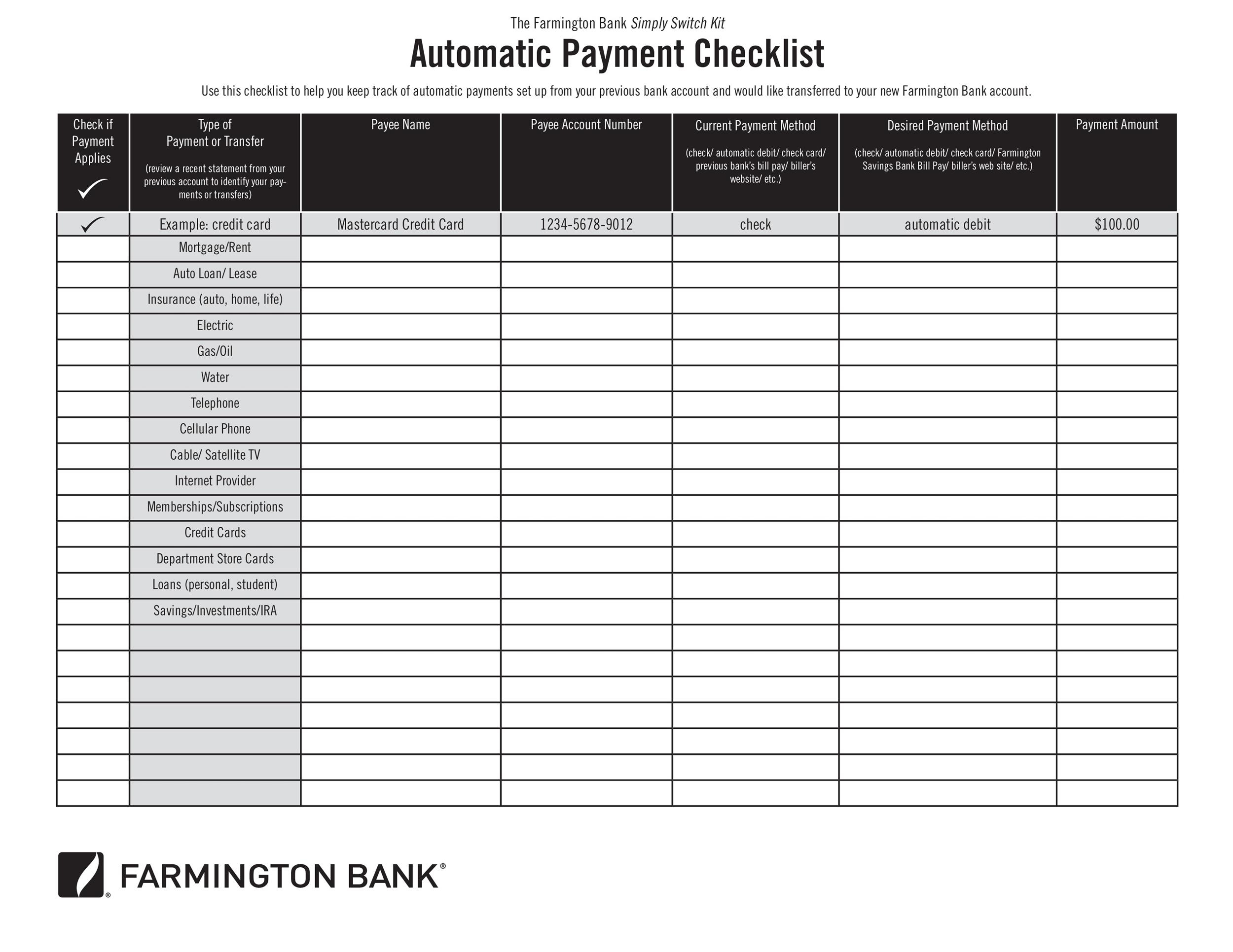 33 Free Bill Pay Checklists & Bill Calendars (Pdf, Word & Excel) intended for List Of Monthly Bills To Pay