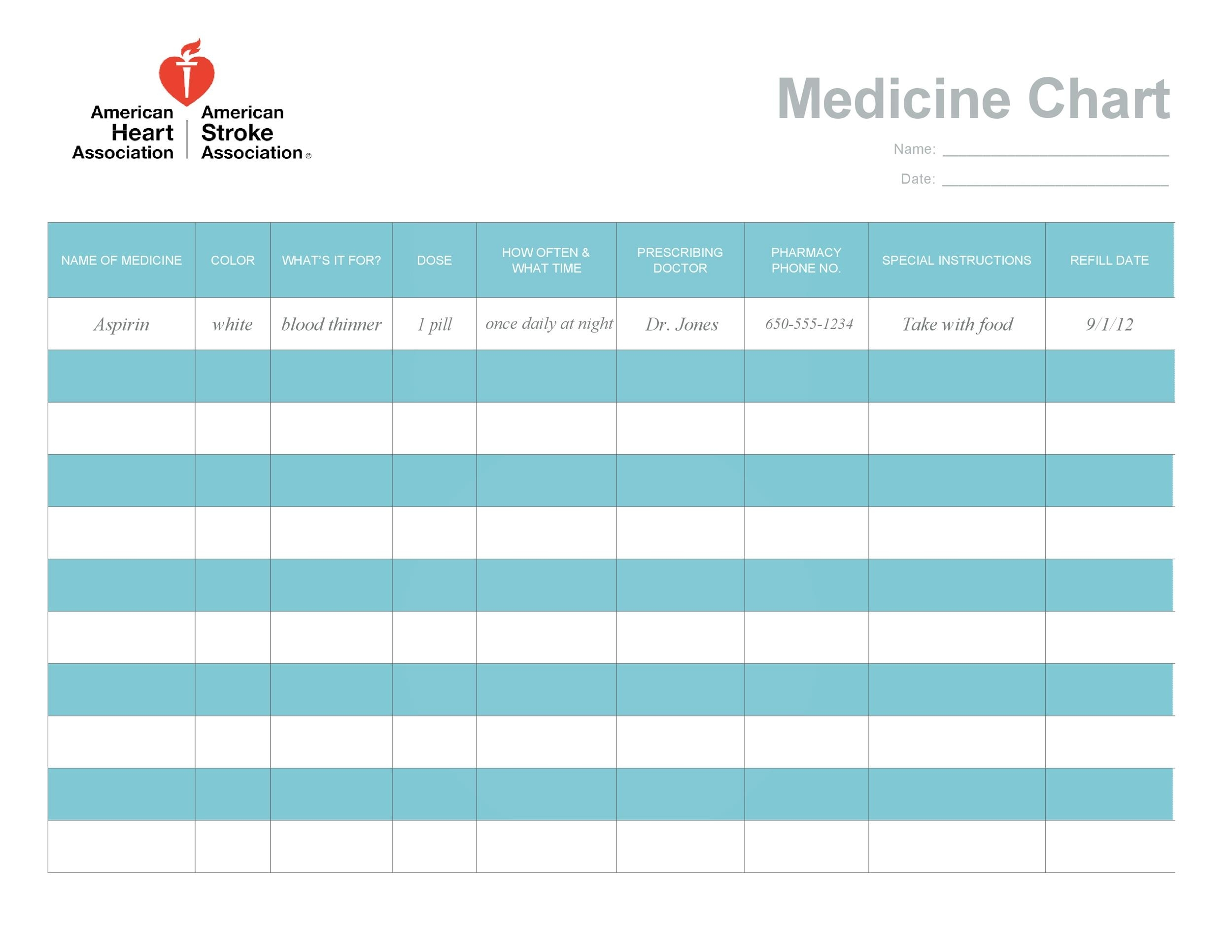 40 Great Medication Schedule Templates (+Medication Calendars) pertaining to Medication Sheets For 7 Days